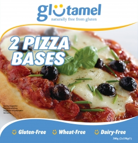 "Glutamel 9"" Pizza Base x 2"