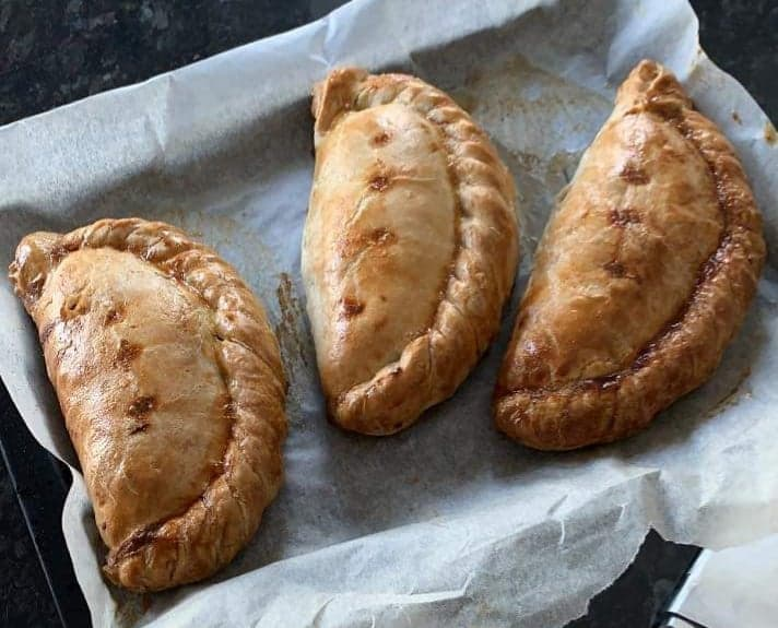 Unbaked Frozen Cornish Steak Pasties 2 boxes of 12 x 500g